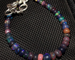 20 Crt Natural Ethiopian Welo Fire Smoked Opal Beads Bracelet 377