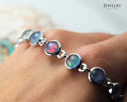 Australian 10pc Triplet Opal in Creative Strong Bracelet am873