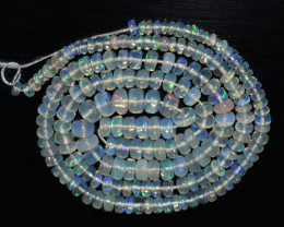 39.85 Ct Natural Ethiopian Welo Opal Beads Play Of Color