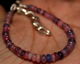 17 Crt Natural Ethiopian Welo Fire Smoked Opal Beads Bracelet 400