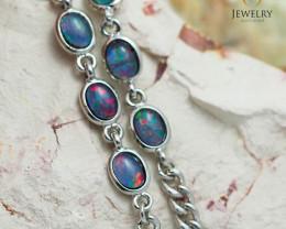 Modern Design 10pc  Oval Opal Triplet Bracelet  OPJ 1061