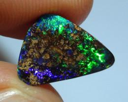 2.90 ct $1 No Reserve Gem Blue Green Color Queensland Boulder Opal