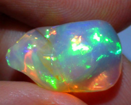 5.95 ct Ethiopian Gem Color Carved Free Form Welo Opal