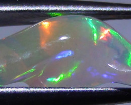 2.25 ct Ethiopian Gem Color Carved Freeform Welo Opal