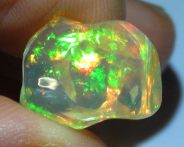 7.80 ct Ethiopian Gem Color Carved Freeform Welo Opal *