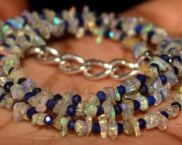 24 Crt Natural Ethiopian Welo Opal Uncut & Lapis Lazuli Necklace 31