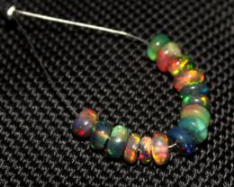 4.75 Crts Natural Ethiopian Welo Smoked Opal Beads Demi Strand 64