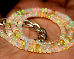 37 Crt Natural Ethiopian Welo Fire Opal Beads Necklace 64