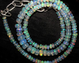 55 Crts Natural Ethiopian Welo Fire Opal Beads Necklace 939