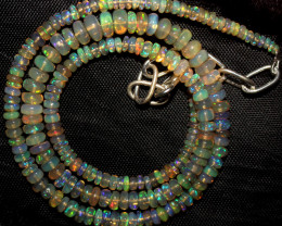 50 Crts Natural Ethiopian Welo Fire Opal Beads Necklace 978