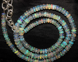 72 Crts Natural Ethiopian Welo Fire Opal Beads Necklace 1001