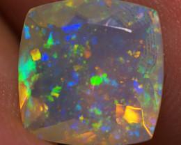 2.45 CT 10X10 MM Pinfire Faceted Cut Ethiopian Opal-ECF12