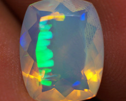 2.25 CT 11X9 MM Top Quality Faceted Cut Ethiopian Opal-ECF36