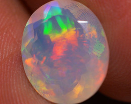 3.23 CT 12X10 MM Top Quality Faceted Cut Ethiopian Opal-ECF43