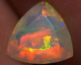 1.09 CT 9X9 MM Top Quality Faceted Cut Ethiopian Opal-ECF80