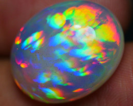 11.45 CRT RARE! AMAZING RAINBOW 3D PRISM COMPLETE COLOR WELO OPAL-