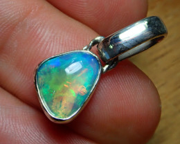 9.54ct. Sterling Silver Blazing Welo Solid Opal Pendant