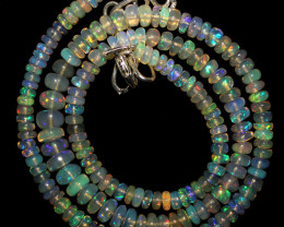 64 Crts Natural Ethiopian Welo Fire Opal Beads Necklace 1074
