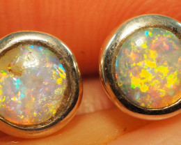 6.80CT  YOWAH BOULDER OPAL EARINGS RE731
