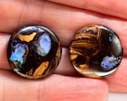 30.30CTS BOULDER OPAL PAIRS POLISHED  STONES KOP27