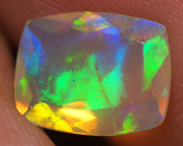 1.08 CT 9X7 MM Top Quality Faceted Cut Ethiopian Opal-ECF104