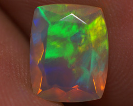 1.35 CT 9X7 MM Top Quality Faceted Cut Ethiopian Opal-ECF112