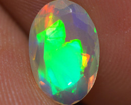 0.90 CT  Top Quality Faceted Cut Ethiopian Opal-ECF122