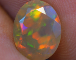 1.19 CT  9X7 MM Top Quality Faceted Cut Ethiopian Opal-ECF146