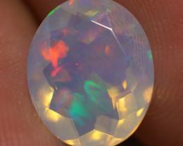 2.00 CT  11X9 MM Top Quality Faceted Cut Ethiopian Opal-ECF154