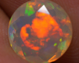 1.30 CT 8X8 MM Top Quality Faceted Cut Ethiopian Opal-ECF196