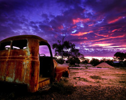 Sunset in Kangaroo Hill, Lightning Ridge.