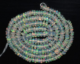 28.65 Ct Natural Ethiopian Welo Opal Beads Play Of Color