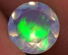 0.55 CT 6X6MM Top Quality Faceted Cut Ethiopian Opal-ECF223
