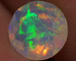 0.60 CT 7X7 MM Top Quality Faceted Cut Ethiopian Opal-ECF234
