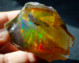 700cts Great Specimen Ethiopian Wello Rough Contraluz Mesmerizing Opal