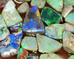 Rough Opal Lot 147.20 cts 42 pcs Black Opals Lightning Ridge BORB060619