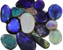 53.70 CTS  BLACK OPAL RUBED PARCEL FROM LIGHTING RIDGE[BR6766]