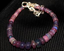 20 Crt Natural Ethiopian Welo Fire Smoked Opal Beads Bracelet 385