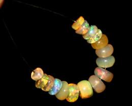2.20 Crts Natural Ethiopian Welo Opal Beads Demi Strand 124