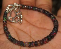 20 Crt Natural Ethiopian Welo Fire Smoked Opal Beads Bracelet 401