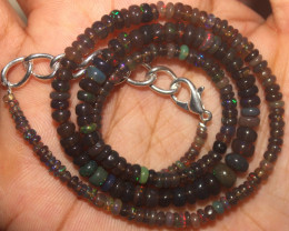 37 Crts Natural Ethiopian Welo Fire Opal Beads Necklace 113