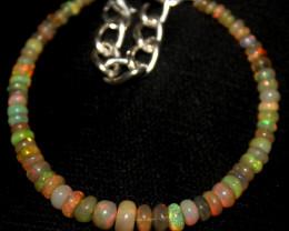 25 Crt Natural Ethiopian Welo Fire Opal Beads Bracelet 425
