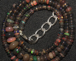 39 Crts Natural Ethiopian Welo Fire Opal Beads Necklace 95