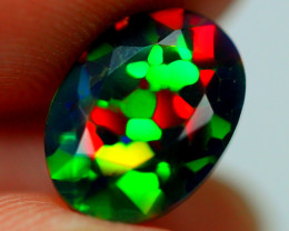 1.60cts HONEYCOMB CELL Ethiopian Faceted Smoked Opal JJ12