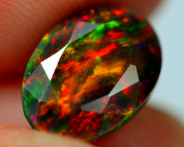 1.65cts AAAA FIRE Ethiopian Faceted Smoked Opal JJ13