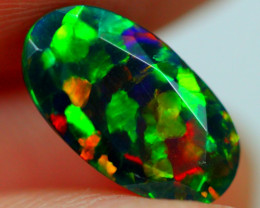 1.55cts PUZZLE Pattern Ethiopian Faceted Smoked Opal JJ15