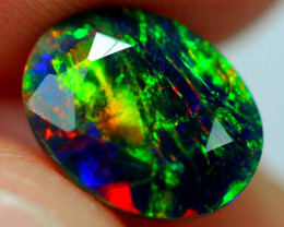 1.34cts AAAA Natural Ethiopian Faceted Smoked Opal JJ19