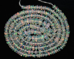 25.60 Ct Natural Ethiopian Welo Opal Beads Play Of Color