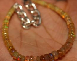 21 Crt Natural Ethiopian Welo Fire Opal Beads Bracelet 428