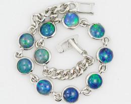 Modern Design 10pc  Oval Opal Triplet Bracelet  OPJ 2009